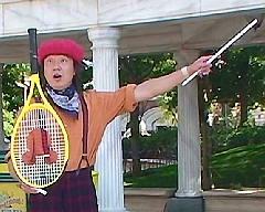 テニスラケットのデビルスティック