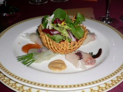 Four Fish Carpaccio with Greens